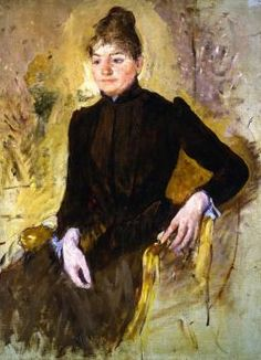 Oil Painting - Portrait of a Woman - by Mary Cassatt - Birmingham Museums & Art Gallery Mary Cassatt, Edgar Degas, The Woman In Black, Birmingham Museum, Museum Art Gallery, Post Impressionism, Art Uk, Heritage Image, American Artists