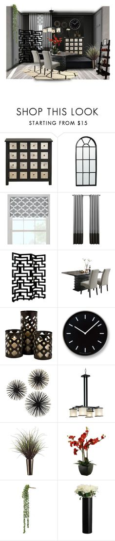"""""""Dining"""" by jacci0528 ❤ liked on Polyvore featuring interior, interiors, interior design, home, home decor, interior decorating, nOir, Prospect + Vine, Universal Lighting and Decor and Weego"""
