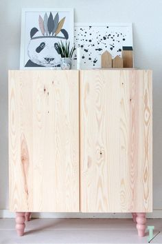 pinned by barefootstyling.com Ikea 'Ivar' cabinet with pink Pretty Pegs