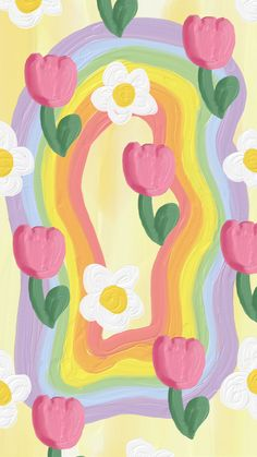 Cute Pastel Wallpaper, Soft Wallpaper, Cute Patterns Wallpaper, Iphone Background Wallpaper, Kawaii Wallpaper, Aesthetic Iphone Wallpaper, Aesthetic Wallpapers, Hippie Wallpaper, Flower Wallpaper