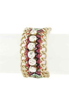 Dottie Couture Boutique -  Rhinestone Cuff, $12.00 (http://www.dottiecouture.com/rhinestone-cuff-1/)