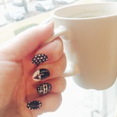 Winter nailart! #rudolf #nailspiratin
