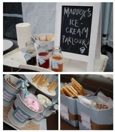1st Bday ideas - lots of ice cream party ideas here