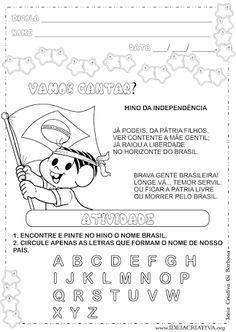 atividades sobre semana da INDEPENDENCIA DO BRASIL para educação infantil - Pesquisa Google