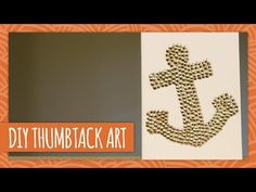 ▶ DIY Thumbtack Art - HGTV Handmade - YouTube