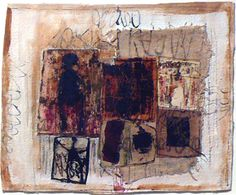 Hannelore Baron  Untitled (C-82092), 1982  Collage of canvas, cloth and paper with ink, 8 3/8 x 10 inches