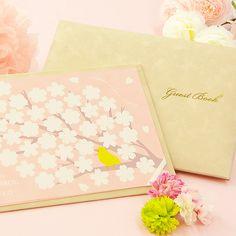 寄せ書きタイプ芳名帳「サクラ」/結婚式  http://www.farbeco.jp/shopdetail/000000010366/