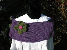 Pure Irish Wool Capelet In Heather by TissaGibbons on Etsy