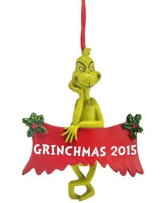 Department 56 Grinch Ornaments Collection 2015 Grinchmas Dated Ornament