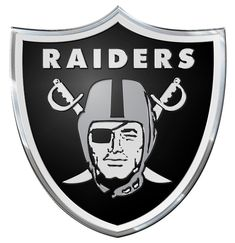 Oakland Raiders Auto Emblem - Color b74da40193d