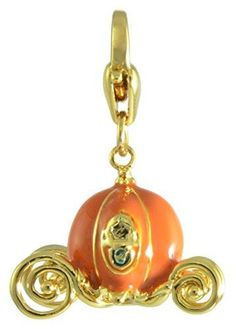 Disney by Couture Kingdom Cinderella Pumpkin Carriage Charm – Twin Treats Disney Charm Bracelet, Charm Bracelets, Disney Couture Jewelry, Cinderella Pumpkin Carriage, Cinderella Coach, Disney Charms, Charmed, Drop Earrings, Pendant