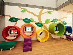 church kids spaces portal nooks color circles tree