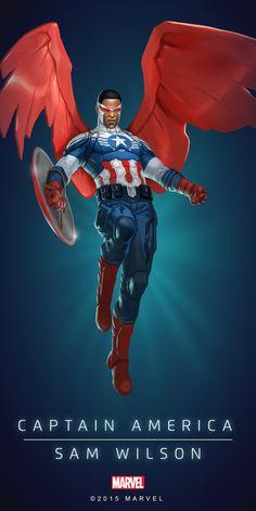Sam_Wilson_Captain_America_Poster_03.png 2.000×3.997 píxeles