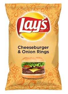 Wouldn't Cheeseburger & Onion Rings be yummy as a chip? Lay's Do Us A Flavor is back, and the search is on for the yummiest chip idea. Create one using your favorite flavors from around the country and you could win $1 million! https://www.dousaflavor.com See Rules.