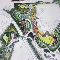 Difference Between Landscape Architecture And Garden Design Landscape Plane, Landscape Architecture Drawing, Landscape Sketch, Landscape Design Plans, Landscape Concept, Architecture Graphics, Landscape Drawings, Urban Landscape, Architecture Colleges