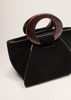 Wooden handle leather bag - Women. Wooden HandlesWooden Handle BagFashion  HandbagsTote ... 73ae7810a9240