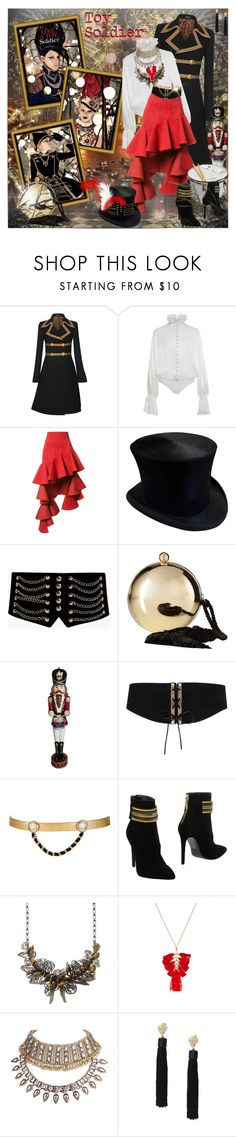"""""""Toy Soldier"""" by prettyasapicture ❤ liked on Polyvore featuring Dolce&Gabbana, Jonathan Simkhai, Jacquemus, Boohoo, Love Moschino, National Tree Company, Lovestrength, Maison Mayle, Pierre Balmain and Jenny Packham"""