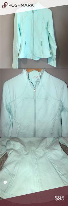 Lululemon Forme Jacket Aqua. Worn once. Fitted. Size 8. lululemon athletica Jackets & Coats