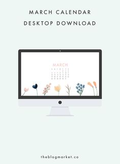For our March desktop download, I went crazy with these beautiful navy and blush watercolor flowers that I downloaded from Fox + Hazel. Aren't they so...