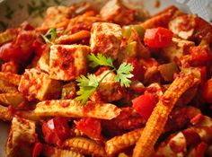 Paneer Babycorn Masala - Paneer is a good source of protein as well as fiber. This delicious dish releases antioxidants in your body, which fight against cancers and heart dieases.