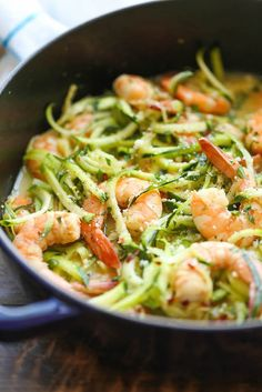 Take your usual shrimp scampi dinner to the next (healthier) level by opting for zucchini noodles instead!