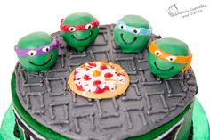 Teenage Mutant Ninja Turtle Cake: TMNT Cake Tutorial - Cookies, Cupcakes, and Cardio
