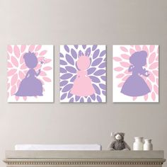Baby Girl Nursery Art - Princess Bedroom - Girl Nursery Print - Princess Nursery…