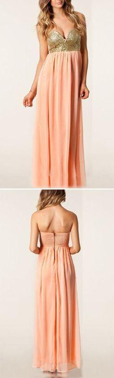 Gold Shimmer + Peach Maxi