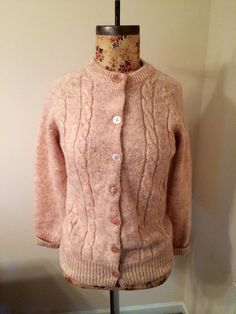 Vintage Heather Beige Cable Knit Sweater by by PetitChatVintage Fall  Sweaters 6aa054df7