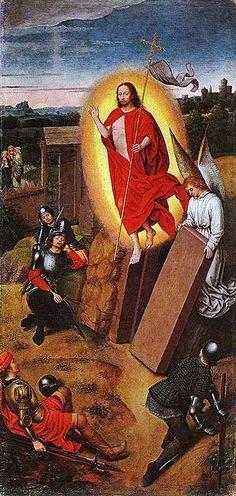 XVв.Hans Memling.Воскресение Христа.Музей Изящных Искусств. Будапешт.