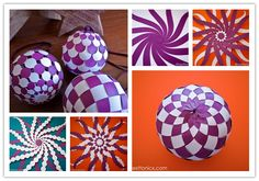 How to make pretty woven paper baubles step by step DIY tutorial instructions, How to, how to do, diy instructions, crafts, do it yourself, diy website, art project ideas