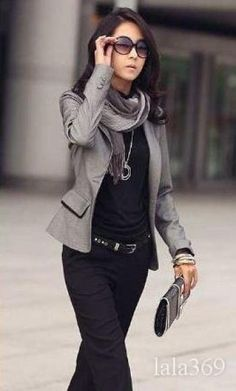 Nicely put together casual outfit.  Business casual attire