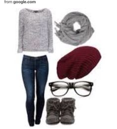 I love this if one day u want to feel smart with a pair of glasses, and comfy & warm with a sweater and boots!