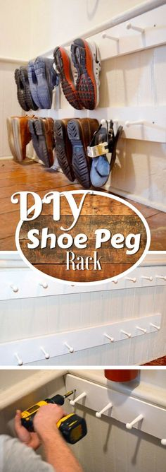 Check out how to build a very easy DIY shoe peg rack @istandarddesign