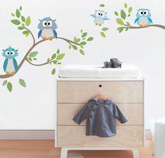 Mocho Mocho são corujinhas fofas para quartos de meninos bebês!  istickonline.com