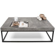 PETRA 、コーヒーテーブル、サイドテーブル:コンクリートのないコンクリート面と鋼、 -によって設計されIN ES MARTINHO