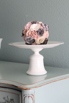 Milk Glass Cake Stand / Wedding Cake Stand / by TheRocheStudio, $100.00