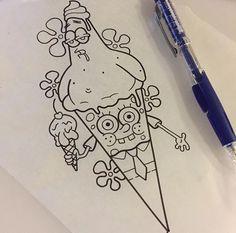 Spongebob Drawings, Emoji Drawings, Disney Drawings Sketches, Easy Cartoon Drawings, Dark Art Drawings, Art Drawings Sketches Simple, Pencil Art Drawings, Doodle Drawings, Easy Drawings