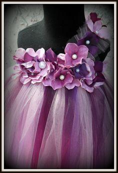 Purple pearl flower girl tutu dress purple tutu dress by gurliglam, $67.00
