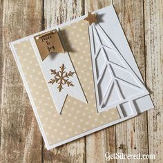 "Free Silhouette & SVG Cutting Files for Christmas Tree ""over-the-edge"" card."