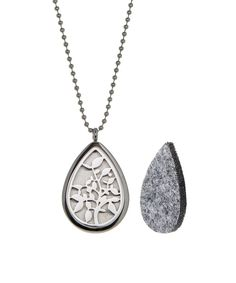 Loving this Stainless Steel Leaves Perfume & Oil Diffuser Locket Necklace on #zulily! #zulilyfinds