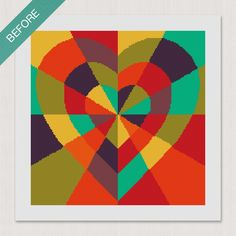 Inlaid #Heart #Needlepoint Canvas This kit can be made on 10, 12, 14 or 18 mesh canvas and would make a great pillow or wall decor! ❤️❤️❤️ Needlepoint Designs, Needlepoint Kits, Needlepoint Canvases, Canvas Size, Create Your Own, Mesh, Wall Decor, Stitch, Pillows