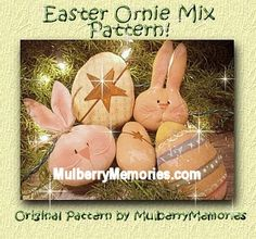 Primitive Bunny Rabbit Carrot Ornies by PrimitivelyPrecious Easter Fabric, Easter Crafts, Easter Ideas, Bowl Fillers, Spring Has Sprung, Pattern Mixing, Gingerbread Man, Spring Crafts, Bunny Rabbit