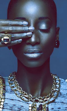 Beauté Noire by Cameroonian Photographer Orphee Noubiss #darkskin #fashionphotography