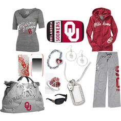 Representing Boomer Sooners, created by kristie-gerard on Polyvore