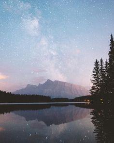 Milky Way over Two Jack Lake Alberta. #stayandwander by samuelelkins