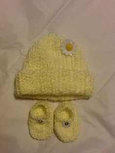 Crocheted Girls baby set