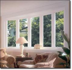 Bow Windows in Living Room