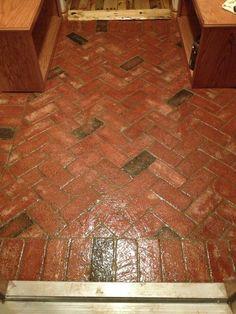 Sealed Paver Brick Flooring @ abuildingweshallgo.blogspot.com Rustic Home Décor - Ranch Style Décor - Country Home - Reclaimed Flooring - Repurposed