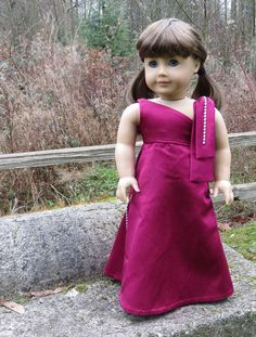 the Socialite Couture evening gown for 18 doll by MelodyValerie, $45.00